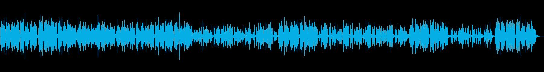 ピアノソロ、ショパンの明るいワルツの再生済みの波形