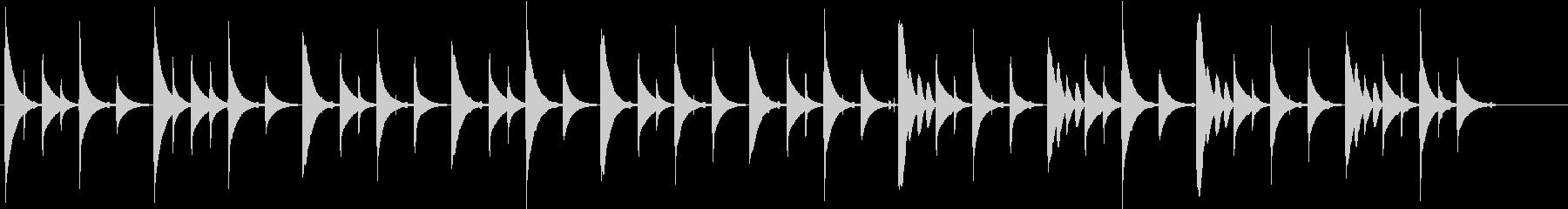 ほのぼのとしてシンプルな短い曲の未再生の波形