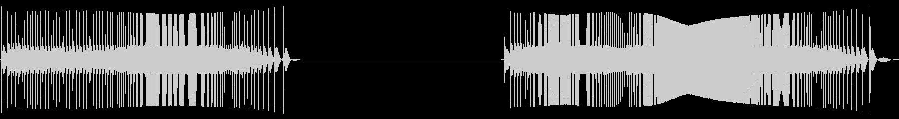 テルミン:2つのスイングとトススイープの未再生の波形
