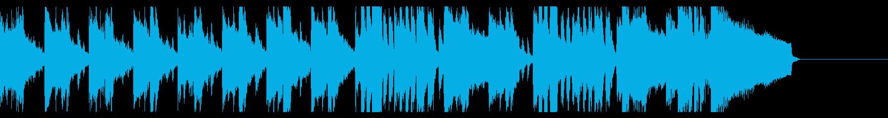 おだやかな海辺のような曲【30秒】の再生済みの波形