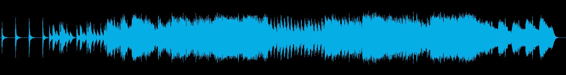 切ない和風シンセサイザーサウンドの再生済みの波形