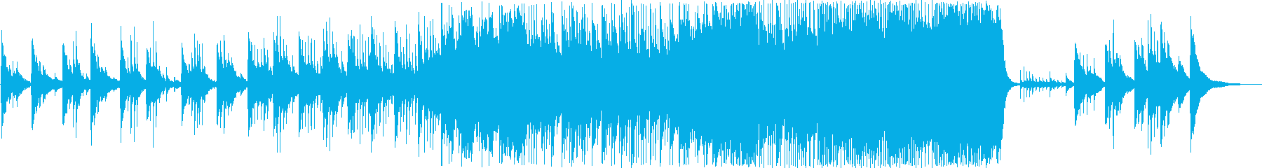 除夜の鐘のイメージでアンビエントな曲の再生済みの波形