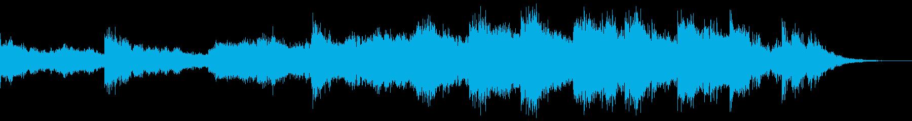暗く迫力があり独特な雰囲気で歌のような曲の再生済みの波形