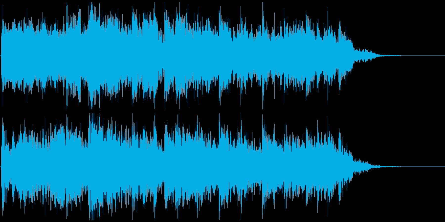 鬼気迫る和太鼓と篠笛のジングル CM等にの再生済みの波形
