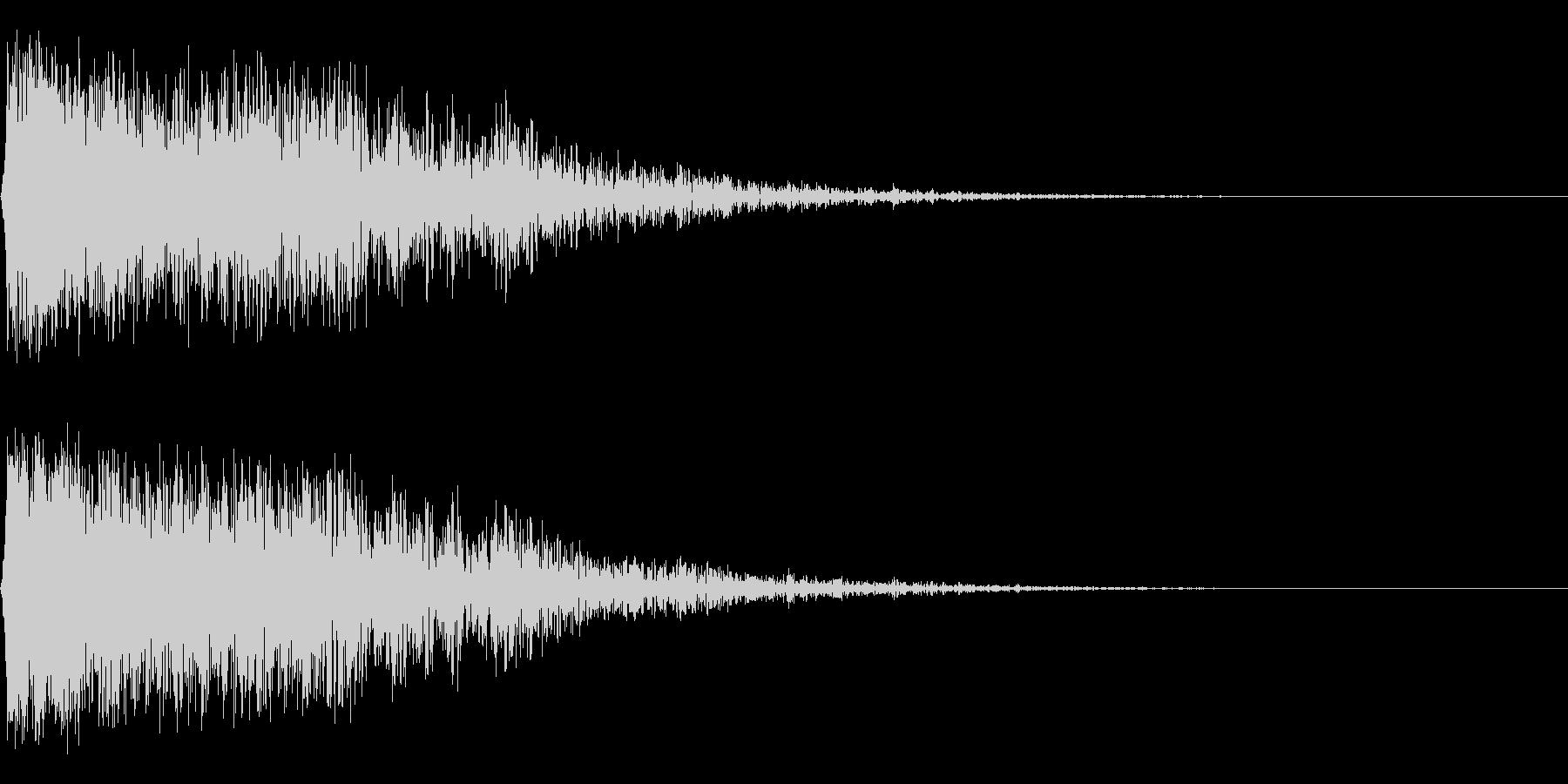 ガーン,ゴーン(金物系インパクト音の未再生の波形