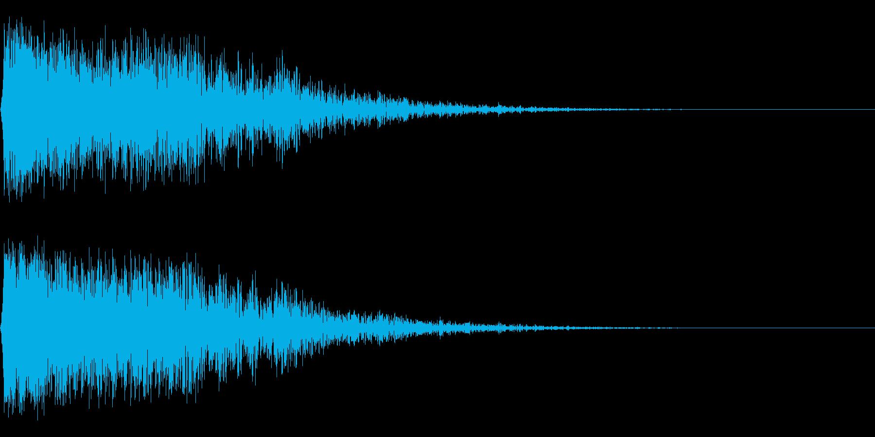ガーン,ゴーン(金物系インパクト音の再生済みの波形