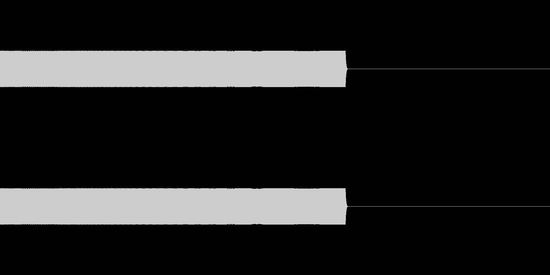 電子的な下降音の未再生の波形