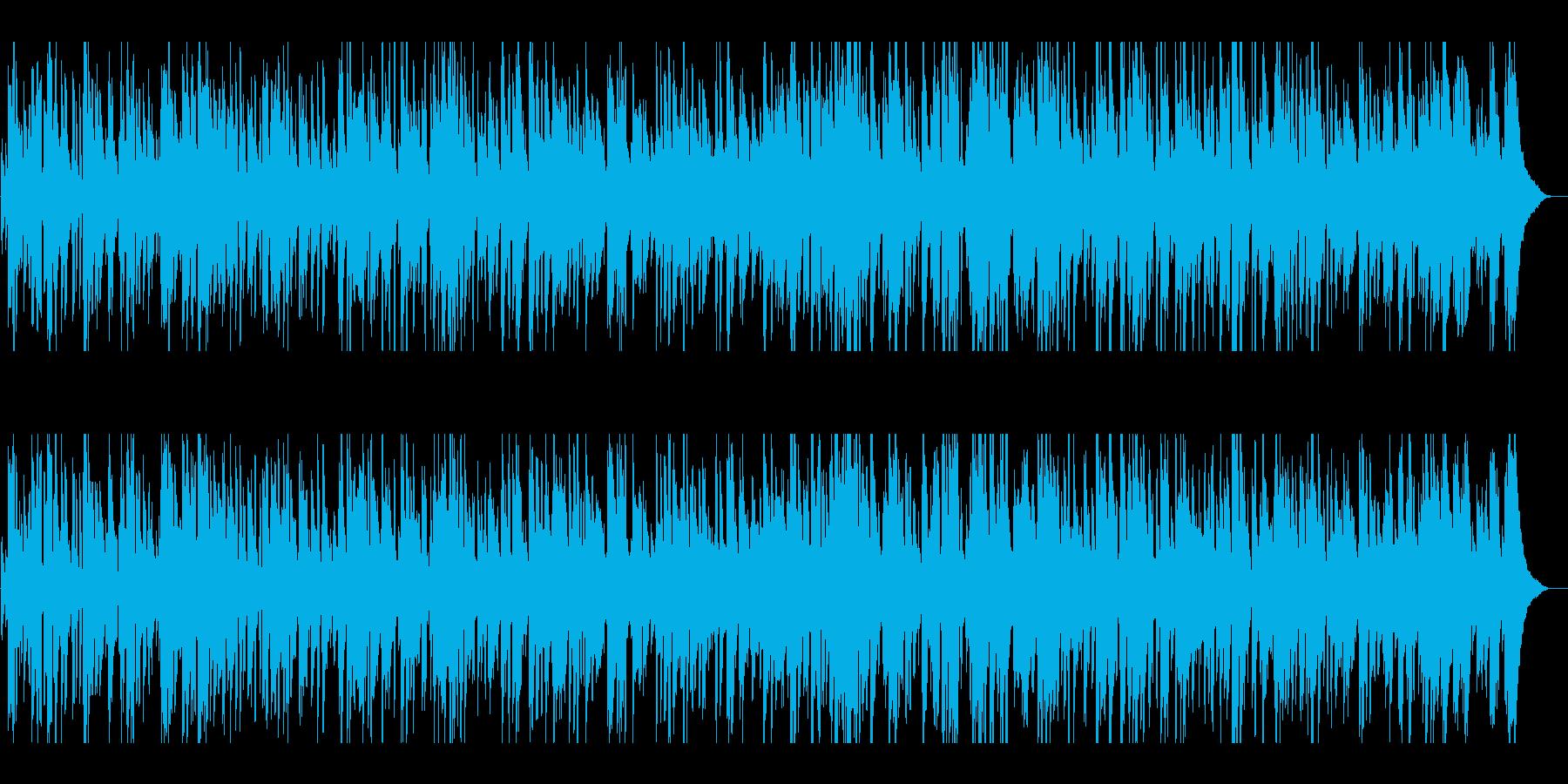 プロ生演奏ギター爽やか疾走感ジャズBGMの再生済みの波形