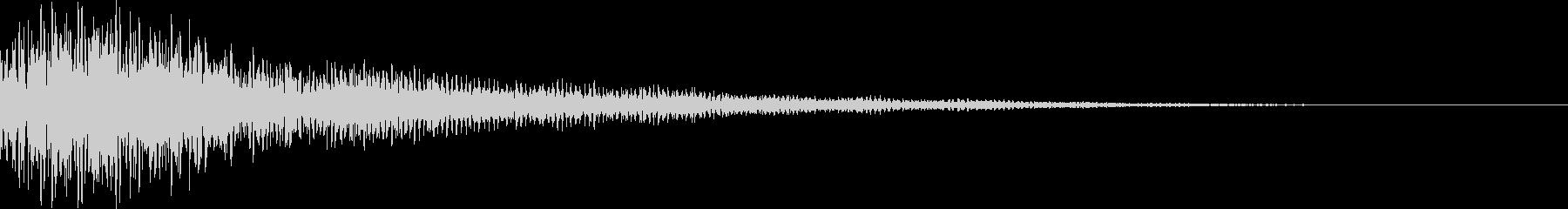 ポローン(決定 ワープ 移動)の未再生の波形