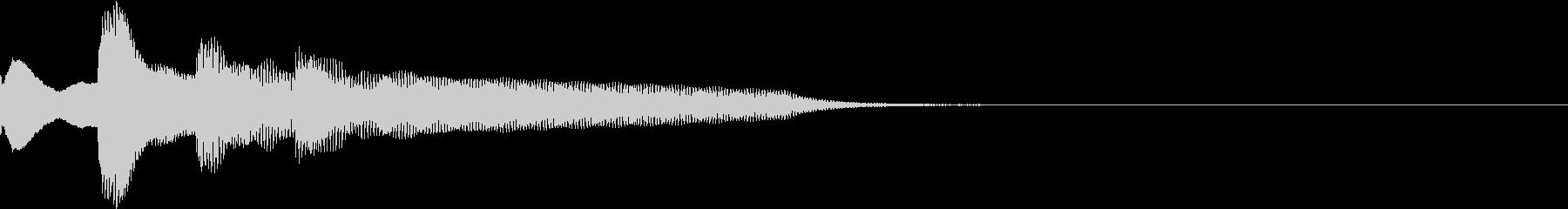 ピンポンパンポーン(開始・上昇)の未再生の波形