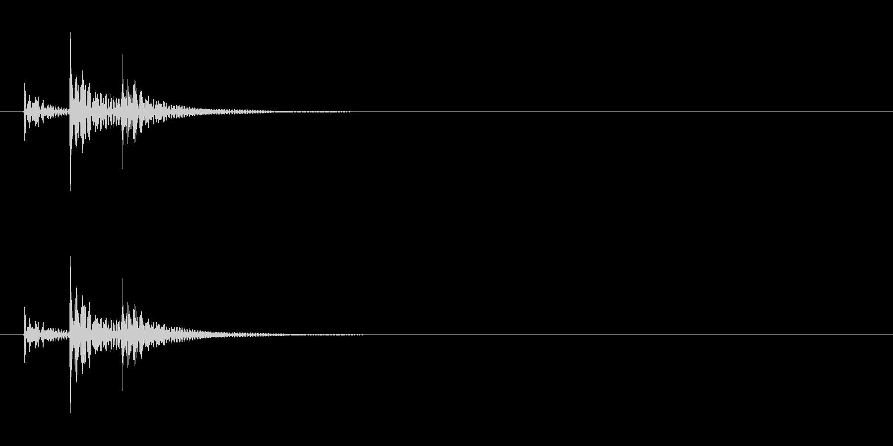 和太鼓の締太鼓の単発音の未再生の波形