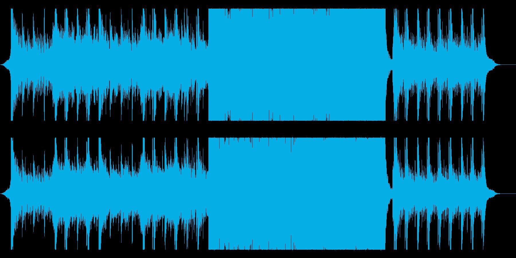 ハリウッド映画風の壮大なオーケストラ10の再生済みの波形