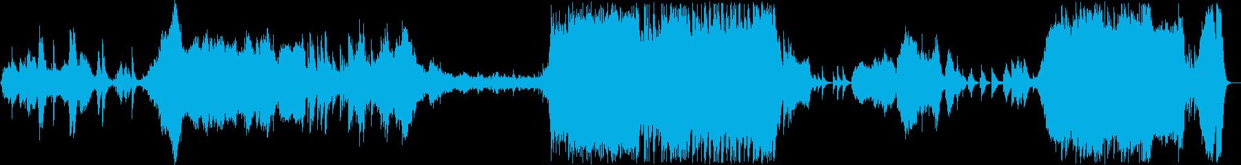 和琴が主役の和風インストオケの再生済みの波形