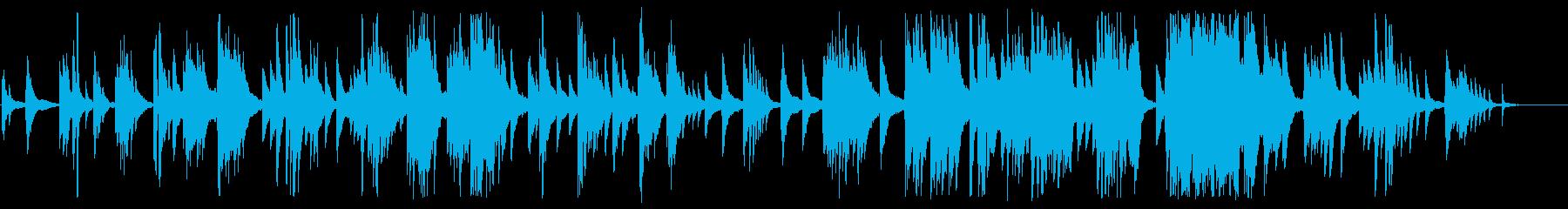 ゆったりした大人のジャズピアノBGMの再生済みの波形