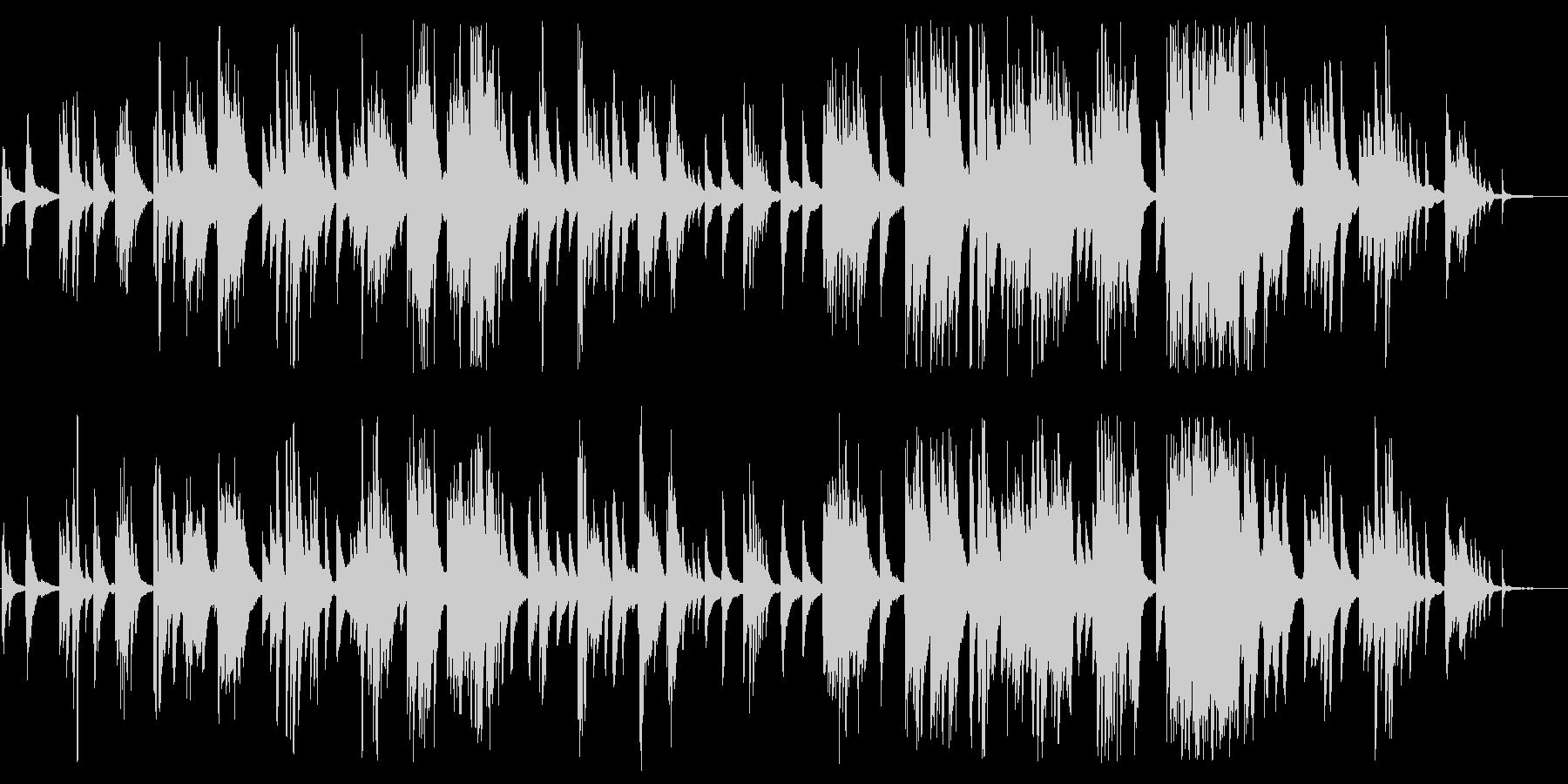 ゆったりした大人のジャズピアノBGMの未再生の波形