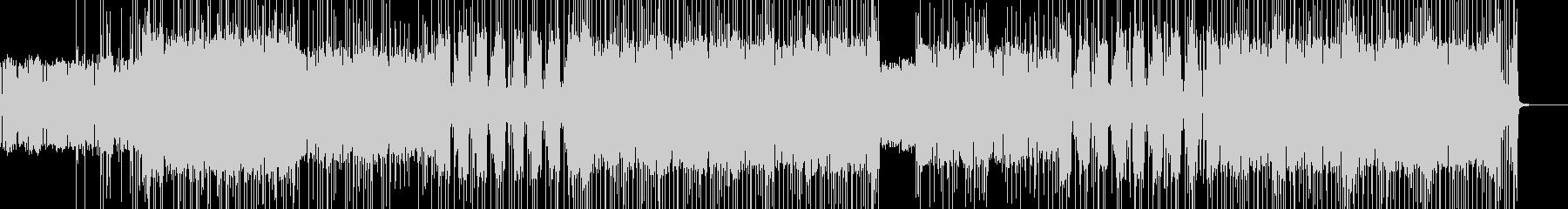 16ビートのファンク風ロックの未再生の波形