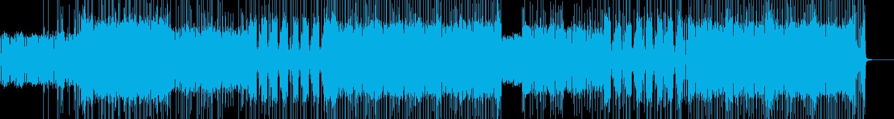 16ビートのファンク風ロックの再生済みの波形