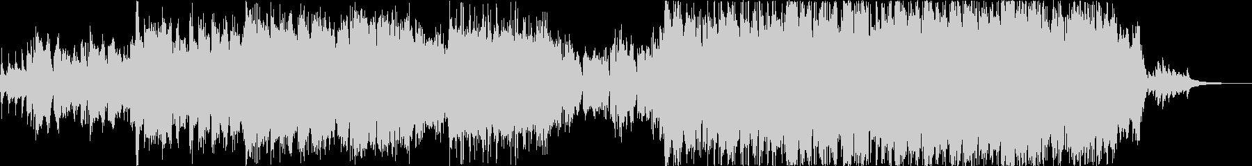 尺八の生演奏による感動的な雰囲気の曲の未再生の波形