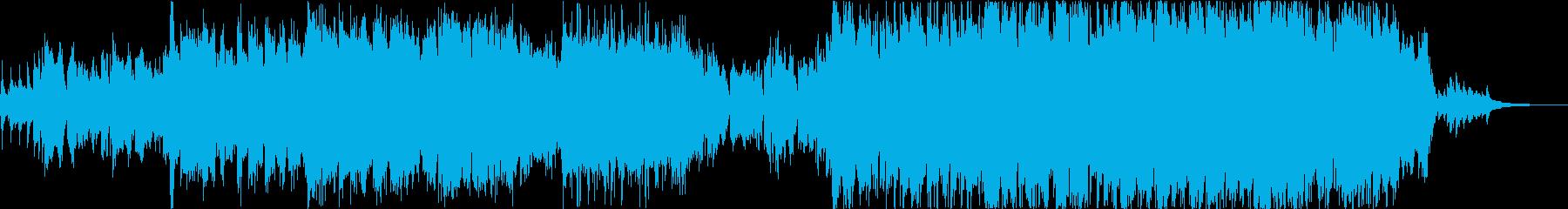 尺八の生演奏による感動的な雰囲気の曲の再生済みの波形