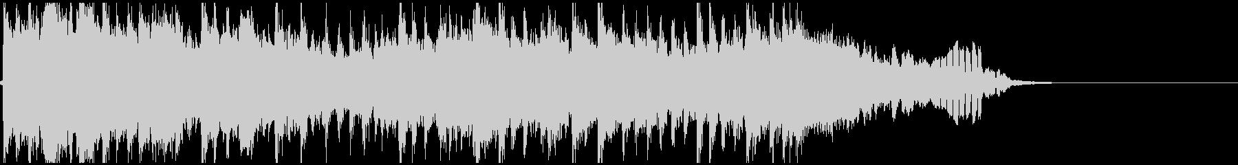 篠笛と琴の和風ドラムンベースジングルの未再生の波形