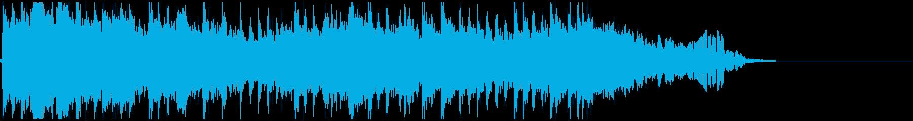 篠笛と琴の和風ドラムンベースジングルの再生済みの波形