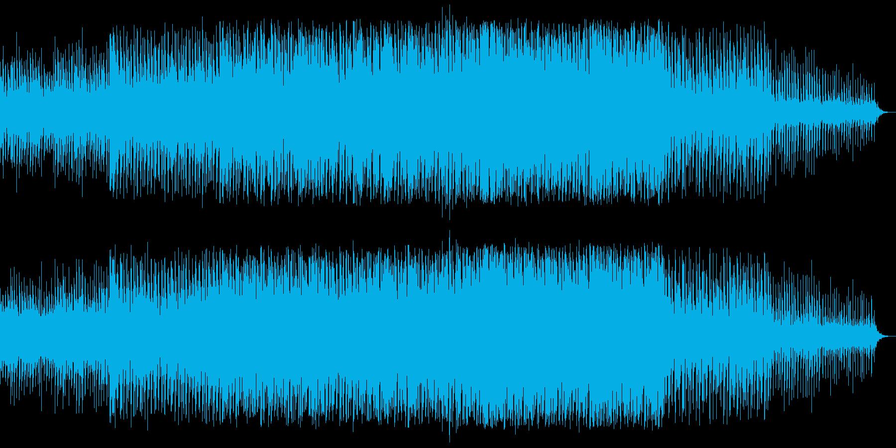 近未来を表現するシンセサイザーの再生済みの波形