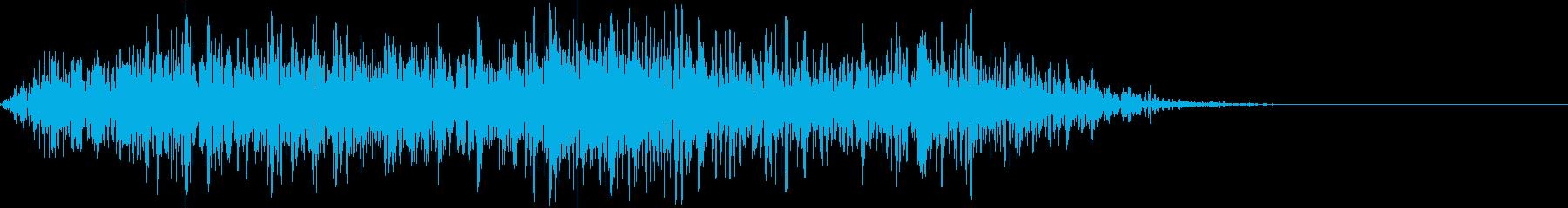 ライオンの鳴き声(グオーッ)の再生済みの波形
