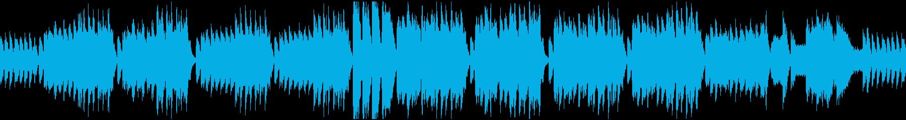 クラシカルな怪しいBGM_ループの再生済みの波形