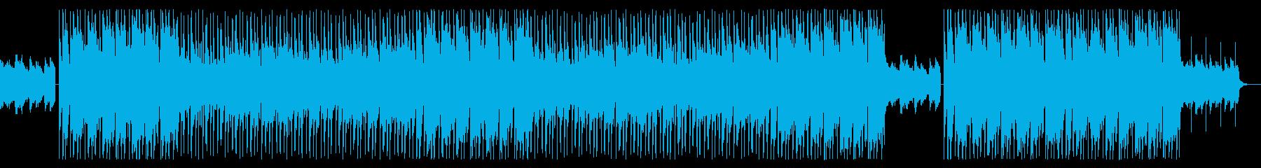 女性ボーカルのお洒落トラックの再生済みの波形