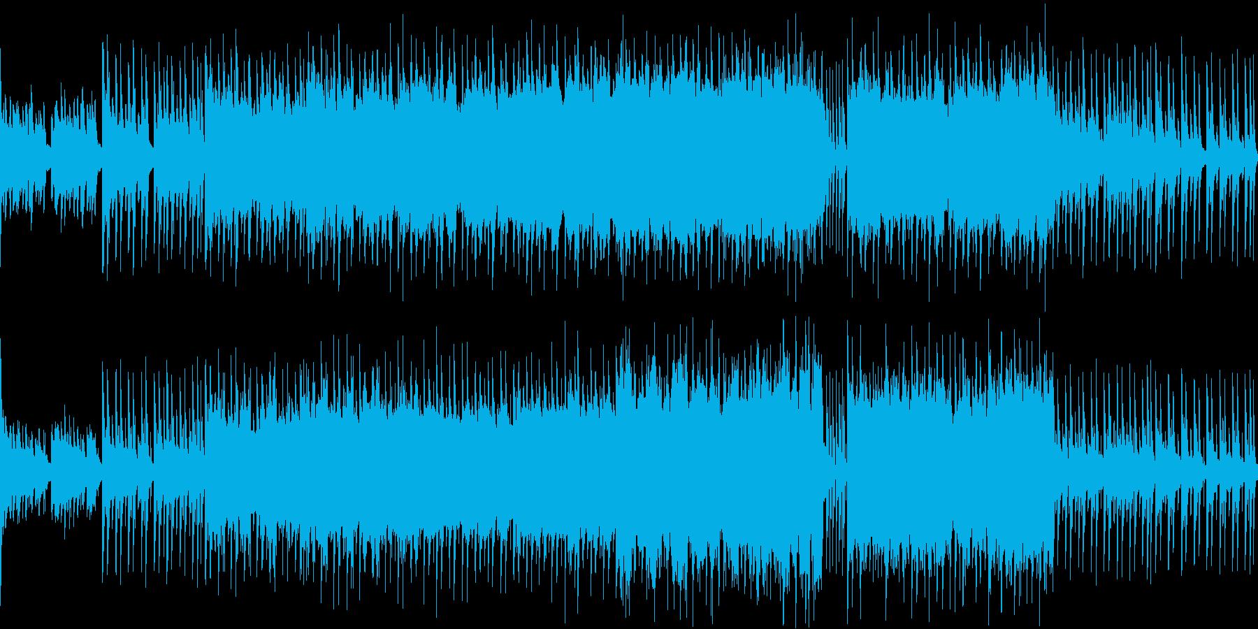 暗めで力強いピアノ&クールな電子ドラムの再生済みの波形