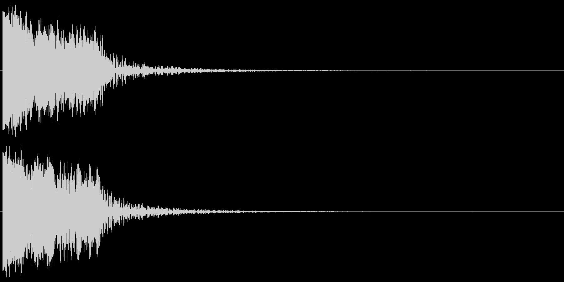 ピヒュオーン ピピョーン クリック選択音の未再生の波形