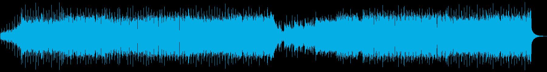 eスポーツハイライト用グルーヴ感メタルの再生済みの波形