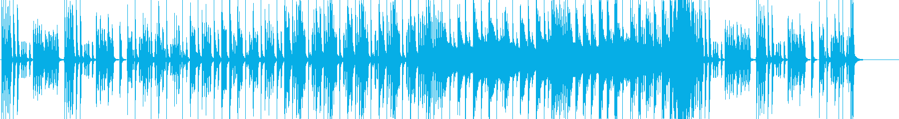 渋い演歌風の曲の再生済みの波形