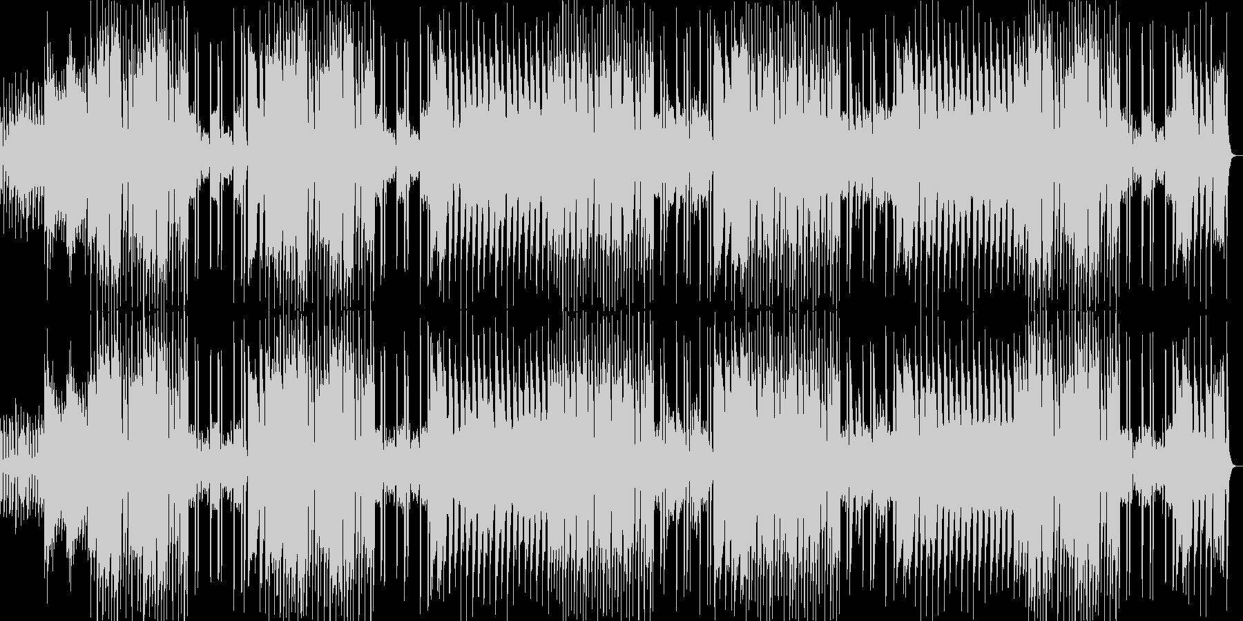 明るく楽しいメロディのポップスの未再生の波形