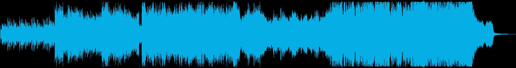 近未来、サイエンスを連想させるBGMの再生済みの波形