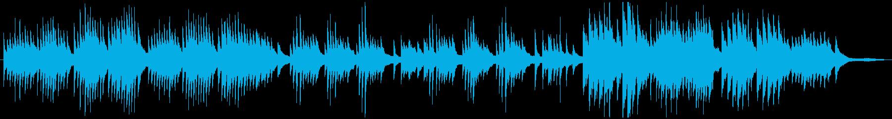 悲しく切ない、ゆったりとしたピアノ曲の再生済みの波形