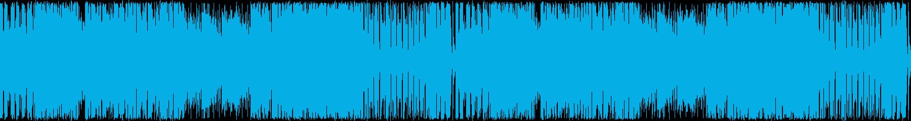 ハイテンションなピコピコシンセ/ループ版の再生済みの波形