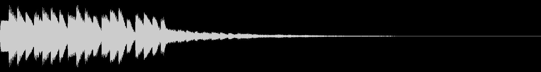 テロップ音01の未再生の波形