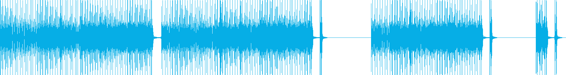 スピード感ある響きが綺麗なメロディーの再生済みの波形
