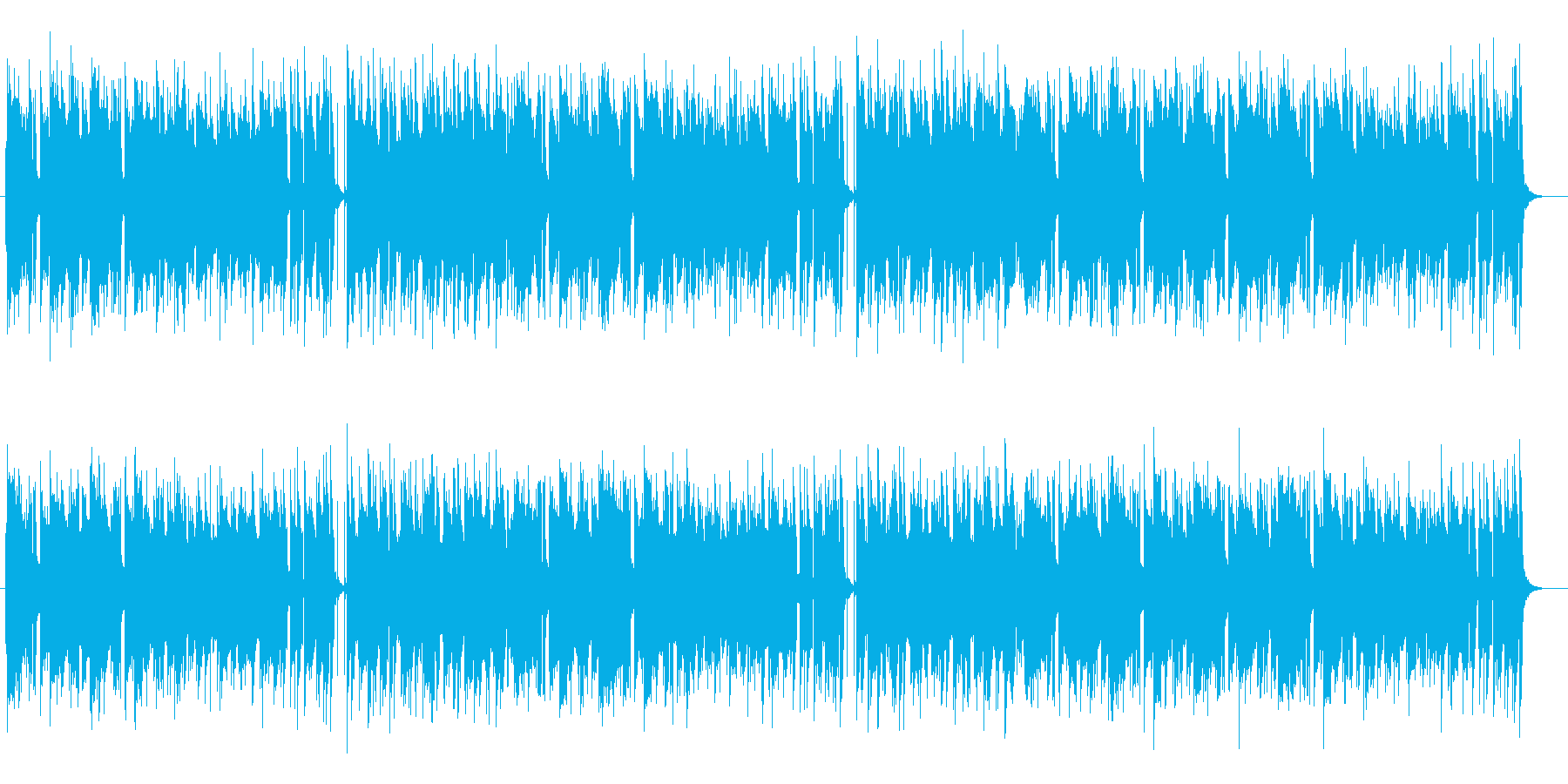 しっとり落ち着きのあるスローテンポの曲の再生済みの波形