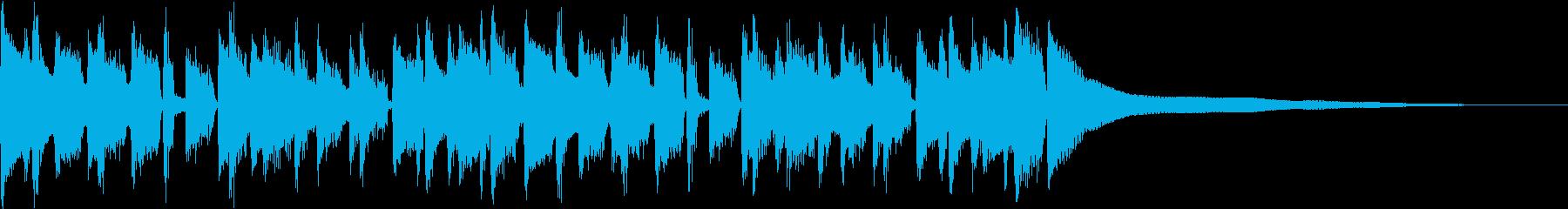 ウクレレと口笛の軽快なジングルの再生済みの波形