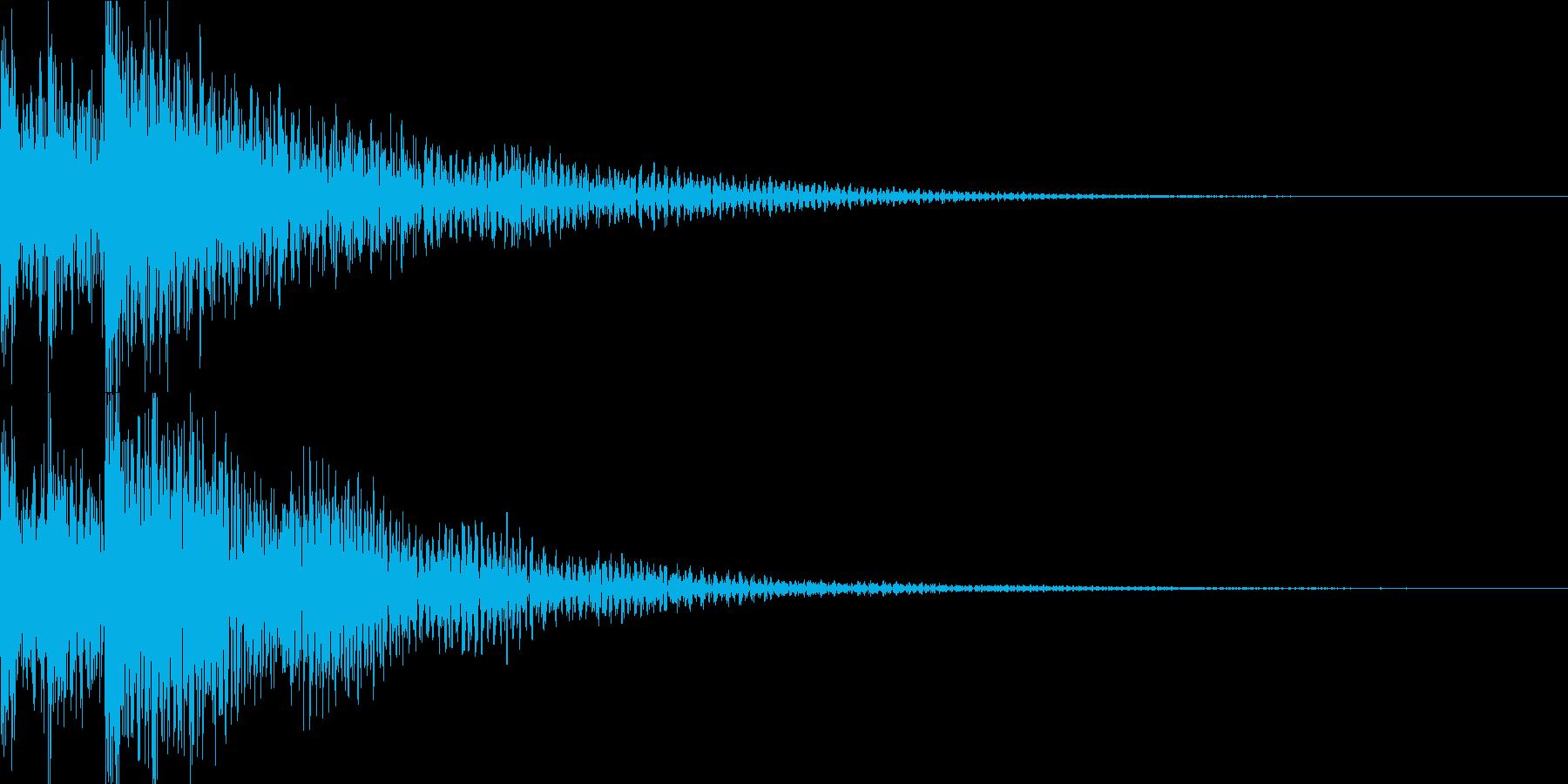 ドコドン(迫力のあるティンパニー)の再生済みの波形