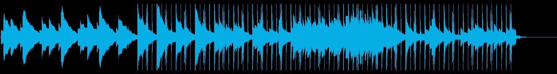 UKロックな電子ピアノに重めのキックの再生済みの波形