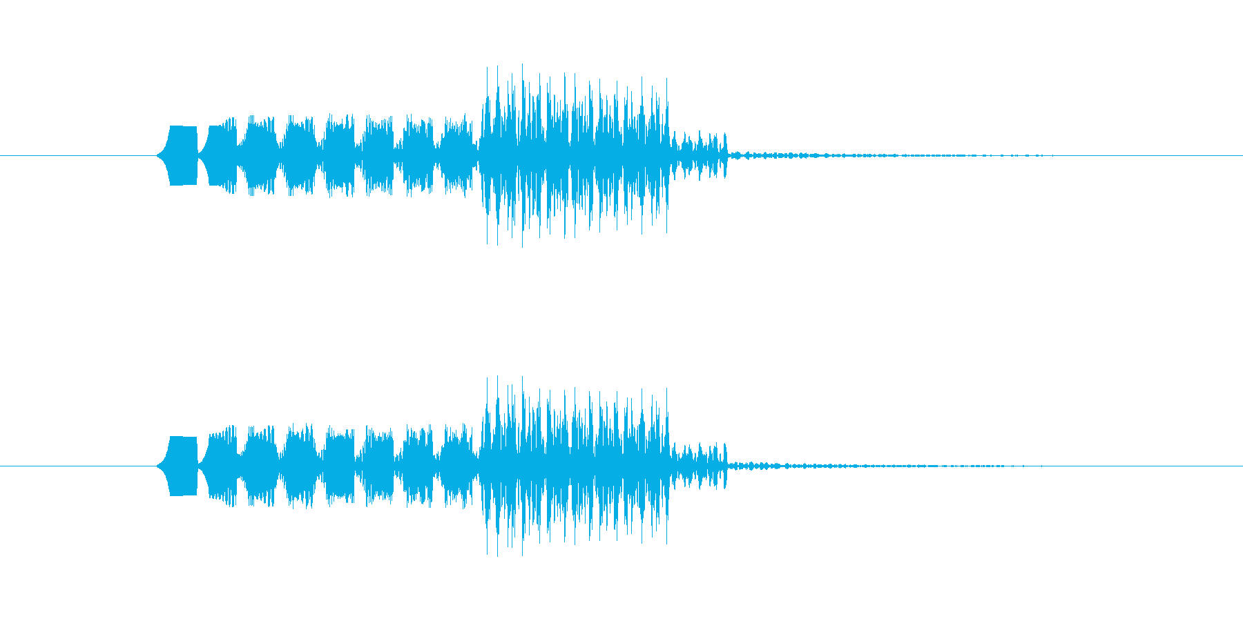 ファミコン風 敵遭遇の再生済みの波形