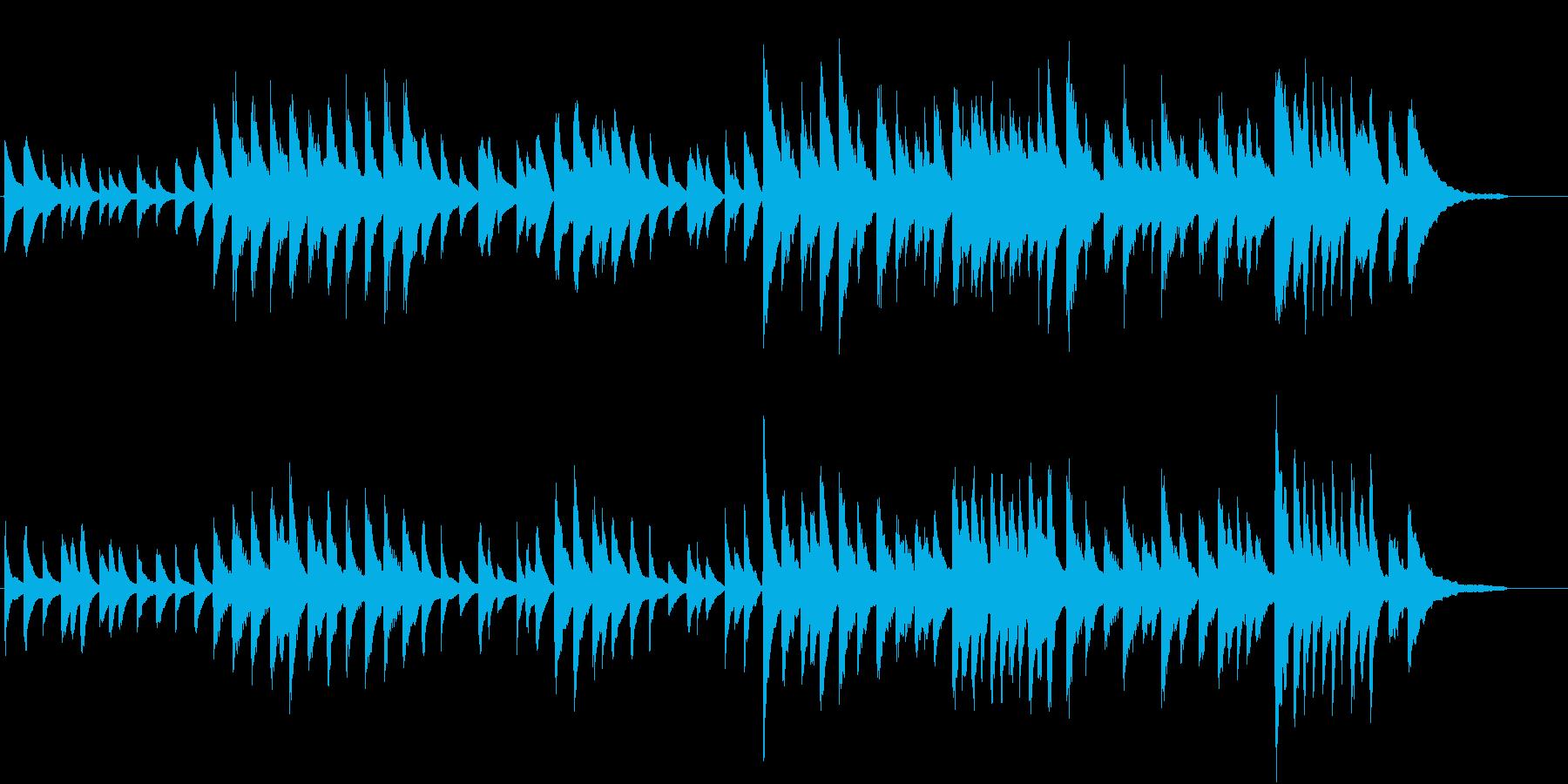 展覧会の絵 ピアノ曲ですの再生済みの波形