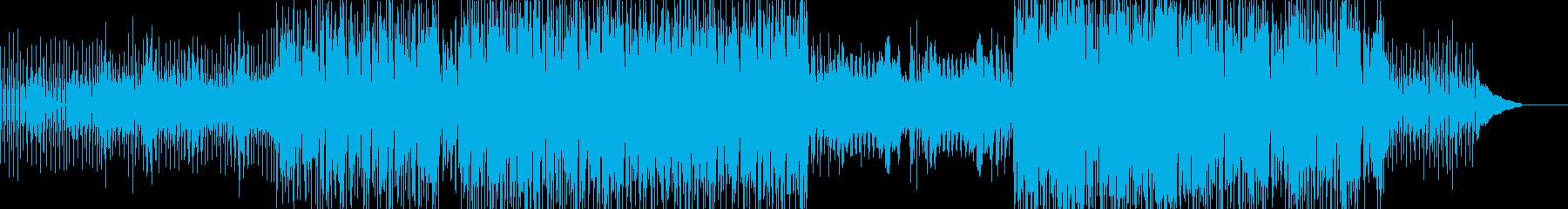 シンセとピアノによる神妙な雰囲気のテクノの再生済みの波形