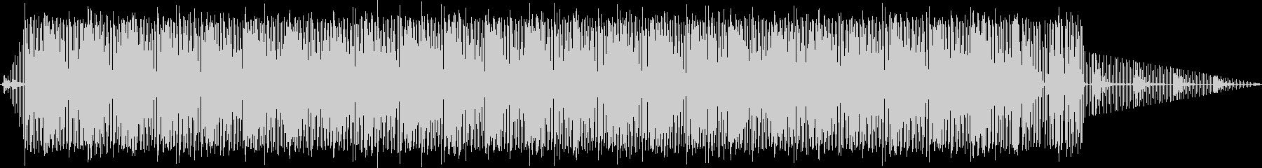 淡々としたリズムスタイルBGMの未再生の波形