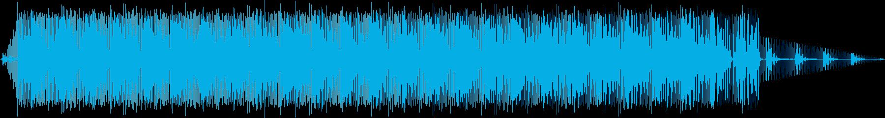淡々としたリズムスタイルBGMの再生済みの波形