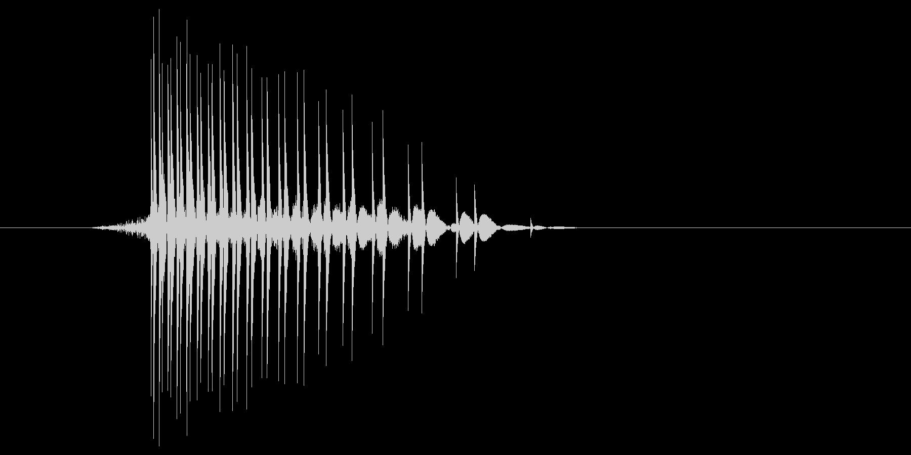 ゲーム(ファミコン風)ヒット音_043の未再生の波形