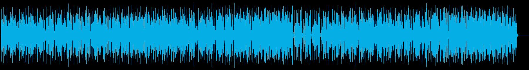 テクノポップな幻想的な音楽の再生済みの波形